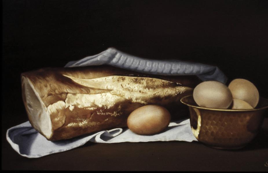Le pain - huile sur toile