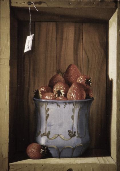 Les fraises - huile sur toile