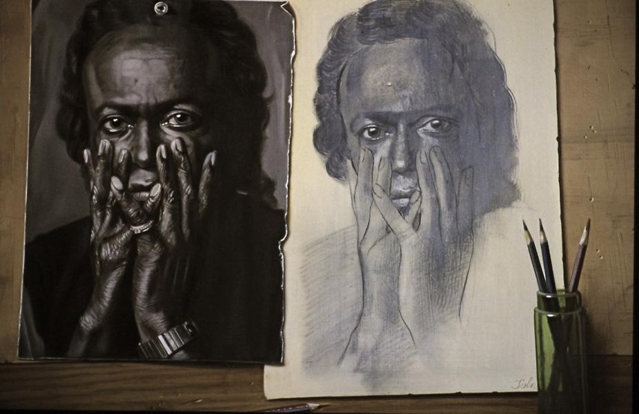 Portrait de Miles Davis - huile sur toile