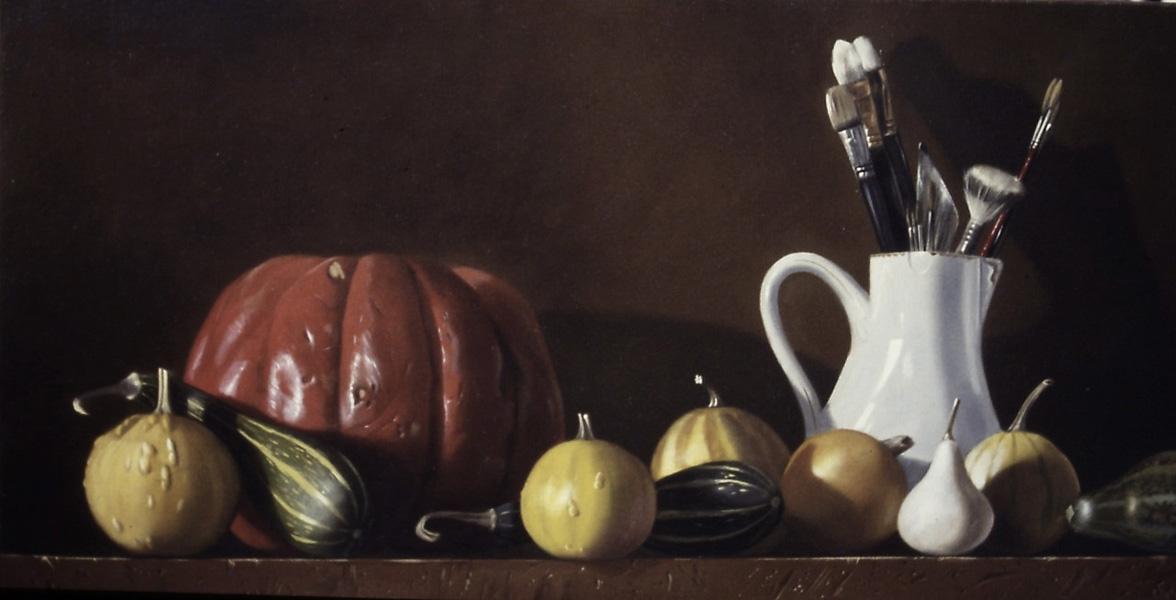 Courge et coloquintes - huile sur toile