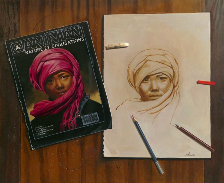 Portrait - huile sur toile