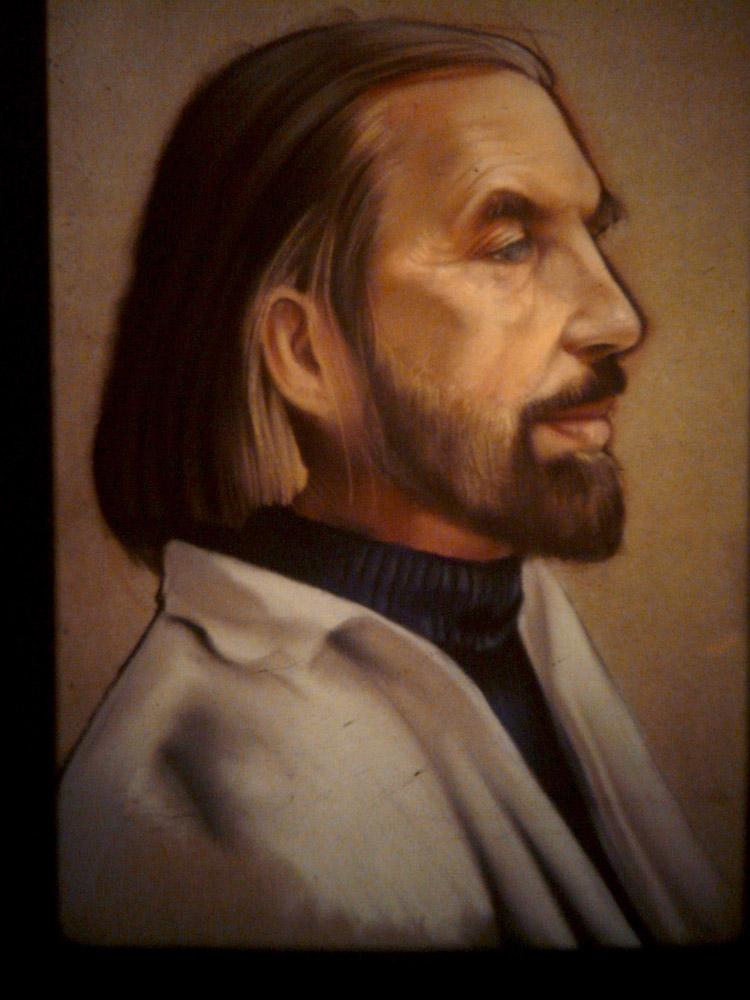 Portrait de Cadiou - huile sur toile