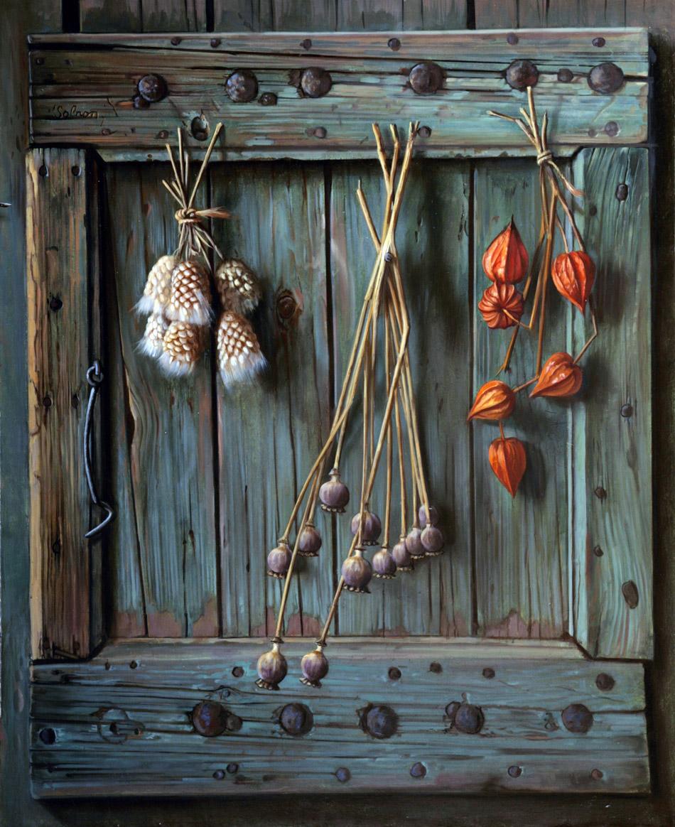 Fleurs séchées - 73 x 60 cm