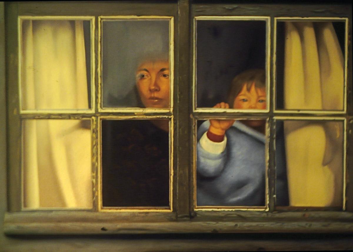 Portrait de Marie et Nicolas - huile sur toile