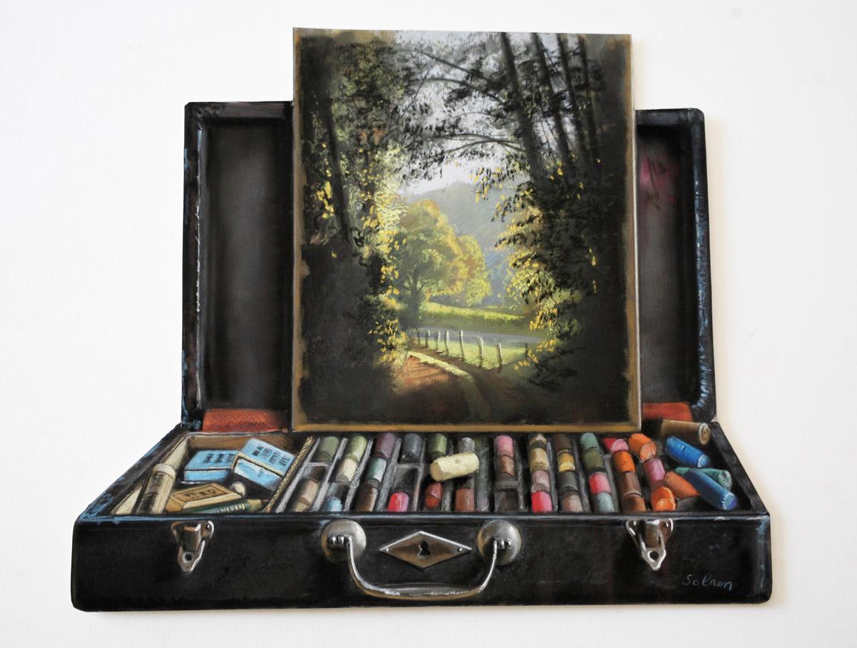 La boîte de pastels - 40 x 35 cm