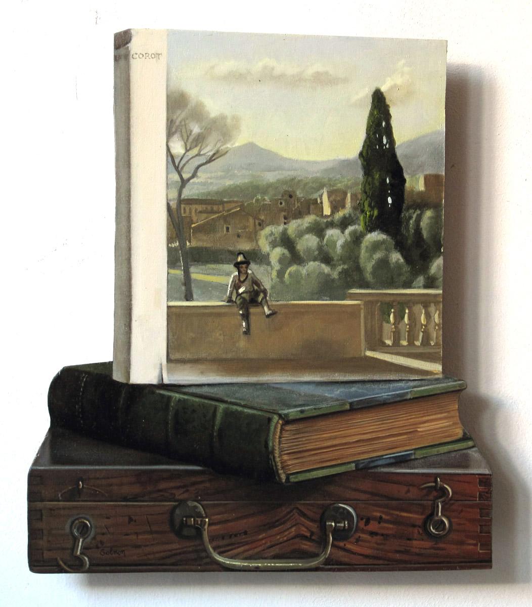 Corot - huile sur bois, 25 x 29 cm