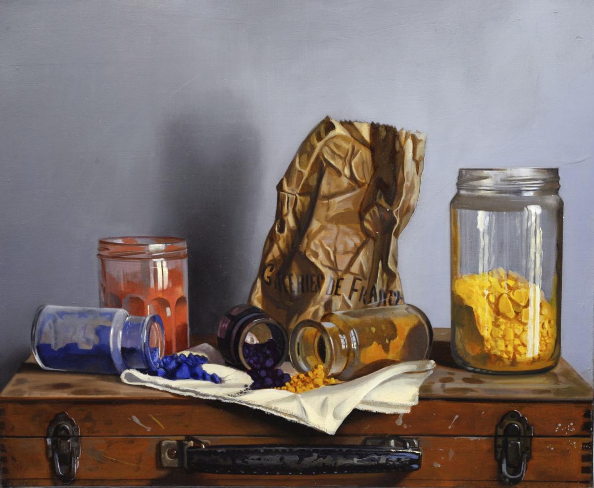 Couleurs - hule sur toile - 46 x 38 cm