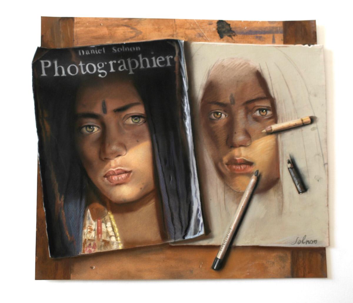 Double portrait - 50 x 46 cm