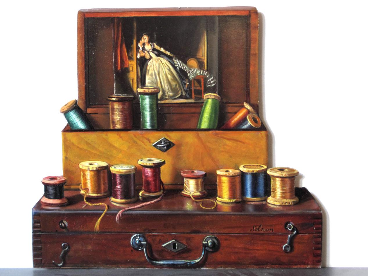 Hommage à Fragonard - huile sur bois