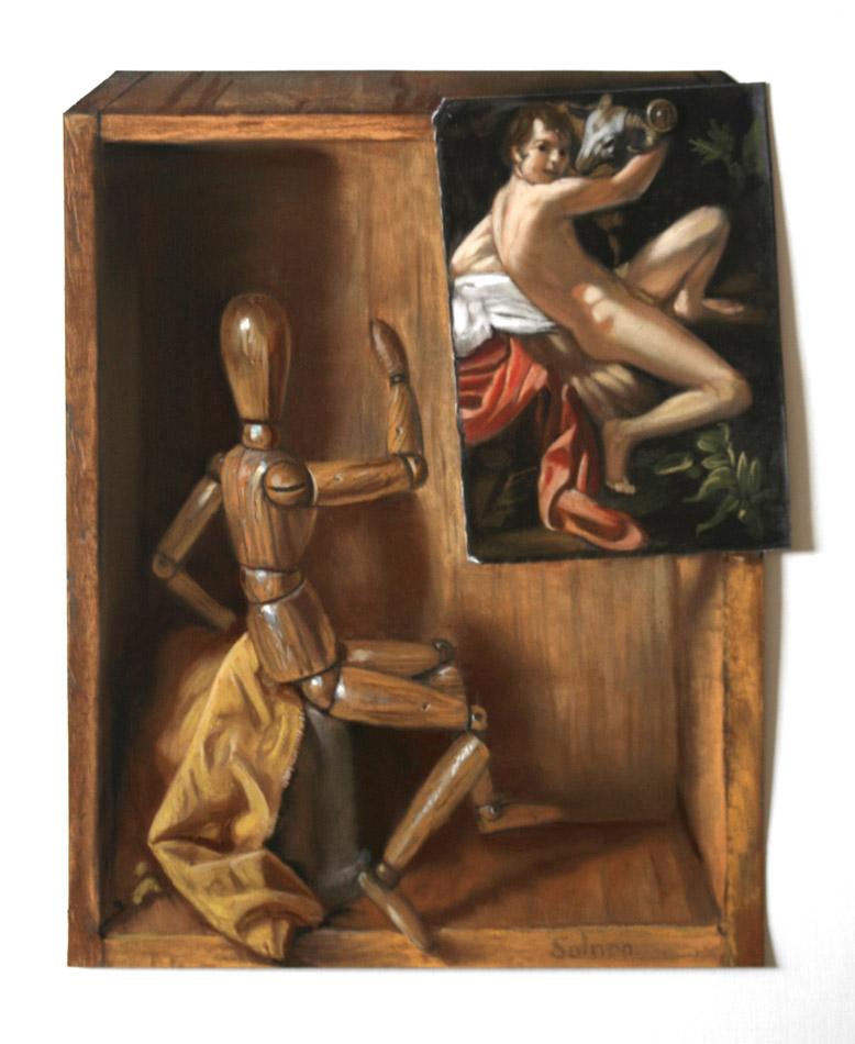 Hommage au Caravage - 31 x 25 cm
