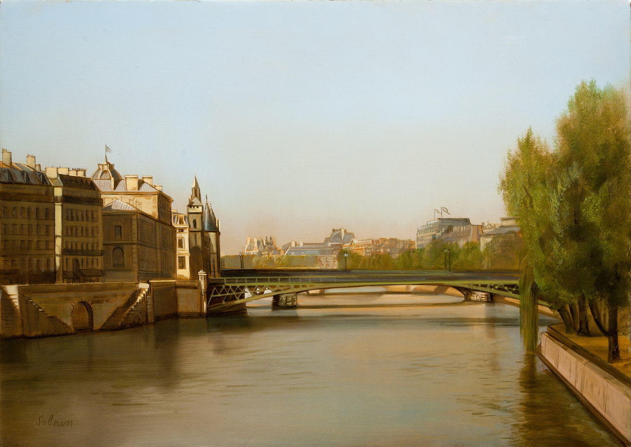 Ile de la Cité - huile sur toile, 46 x 33 cm