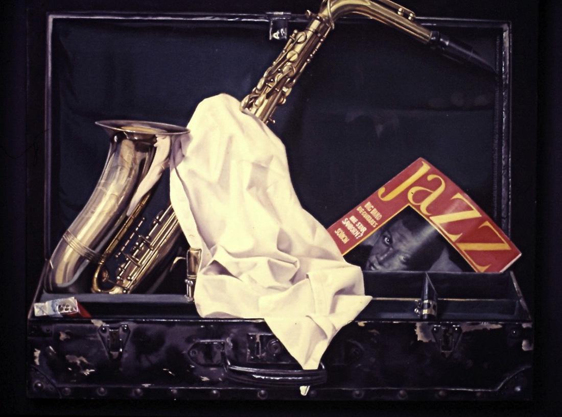 Jazz - huile sur toile