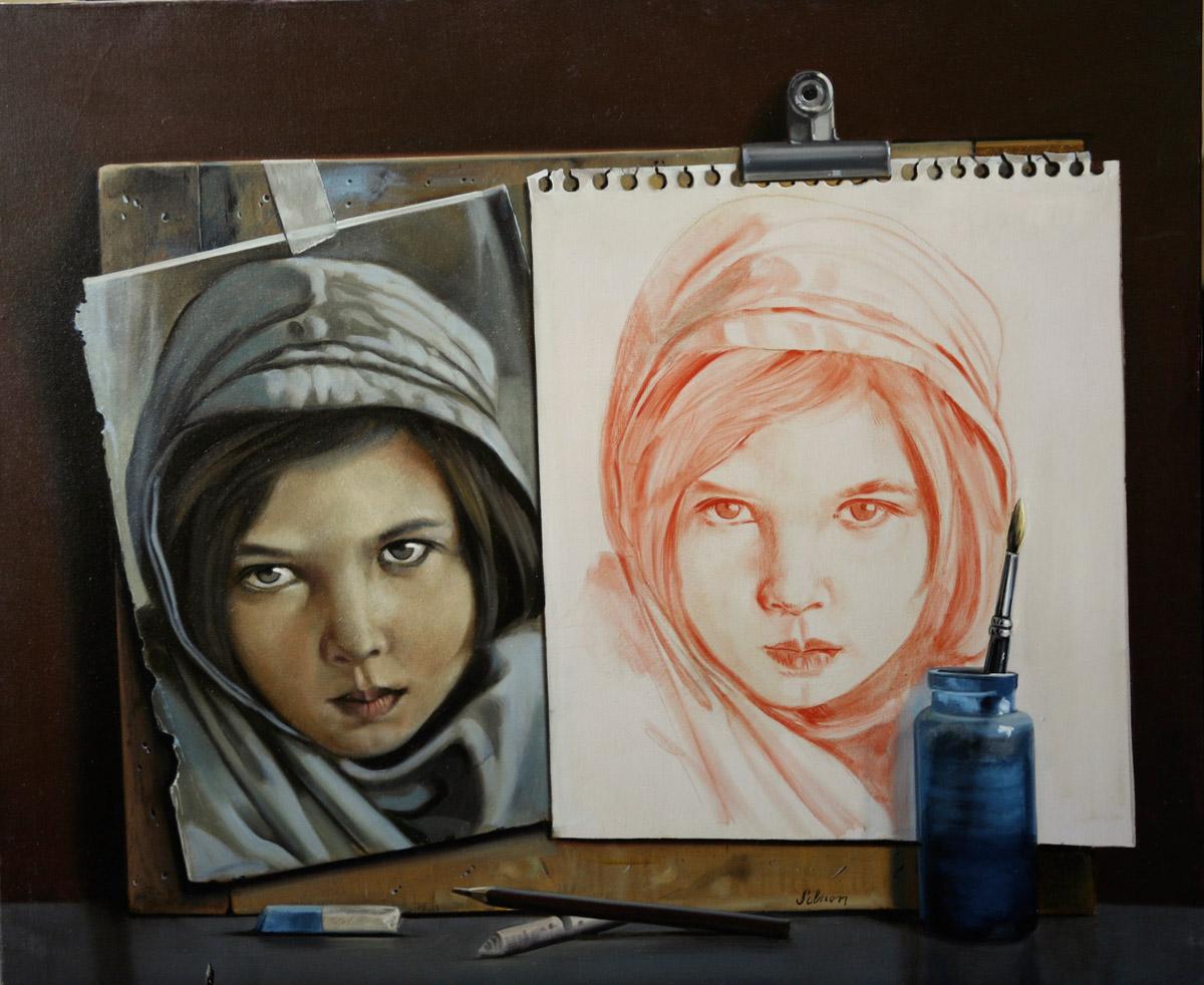 La jeune Afghane - 61 x 50 cm