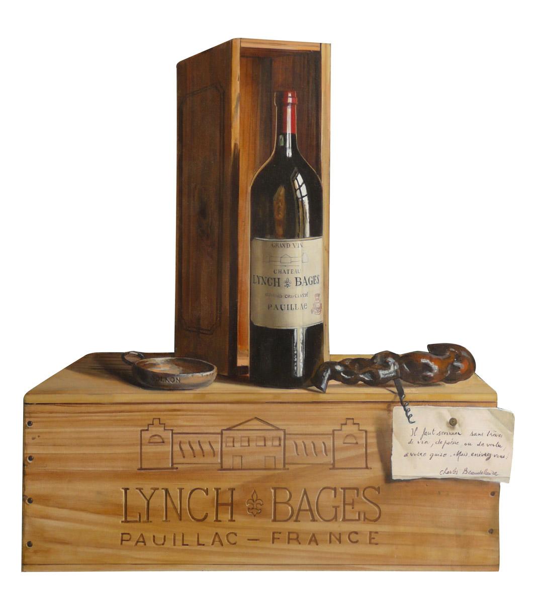 Lynch Bages - huile sur bois, 56 x 50 cm