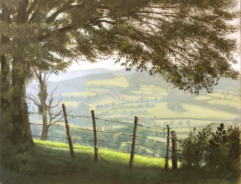 Paysage du Morvan - huile sur toile, 35 x 27 cm