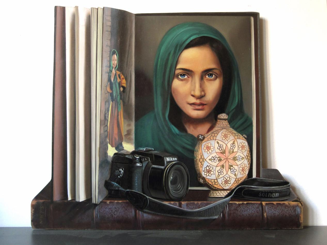 Parfum d'Orient - huile sur bois, 50 x 41 cm
