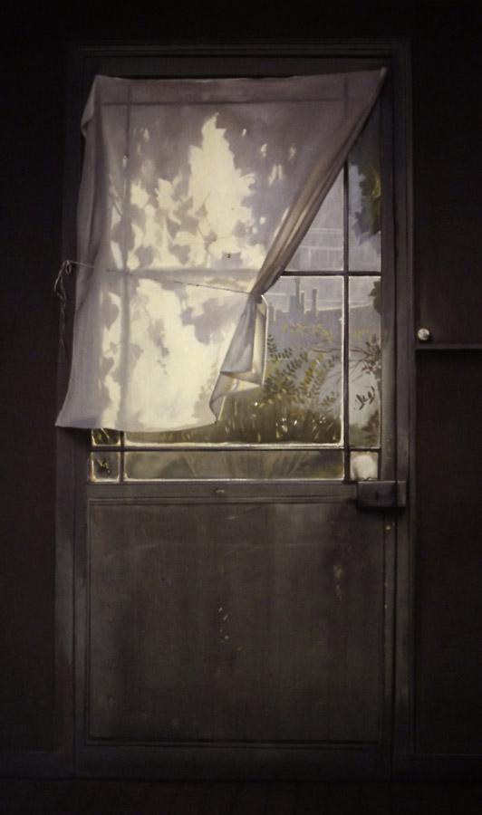 Porte-fenêtre - huile sur toile