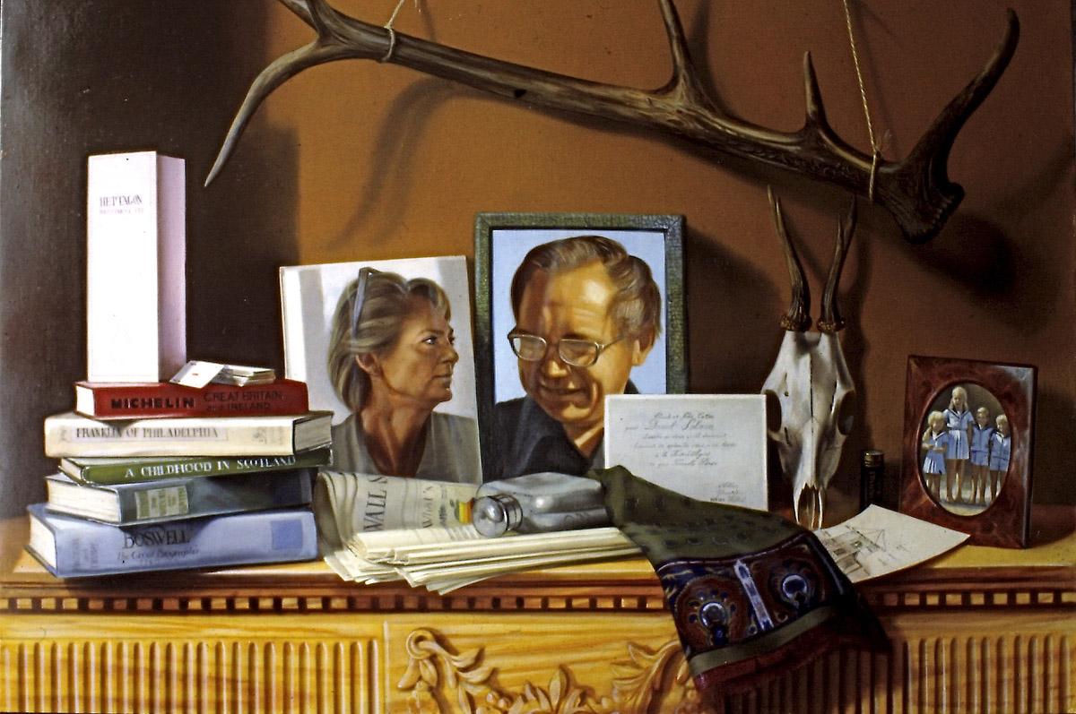Portrait composé - huile sur toile